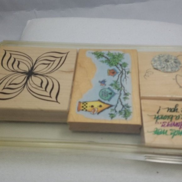 Vtg Garden Various Scrapbooking Stamps COLLECTION